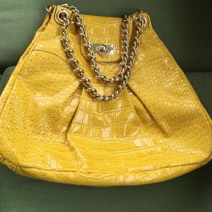 GIANNI BINI PURSE. YELLOW